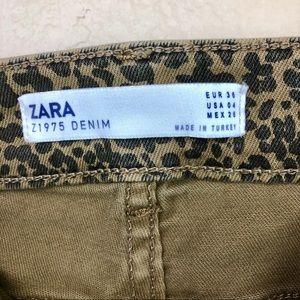 Zara Jeans - Zara • Z1975 Animal Print Skinny Jeans